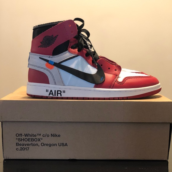 Jordan 1 Retro High Off-White Chicago (Size 9)